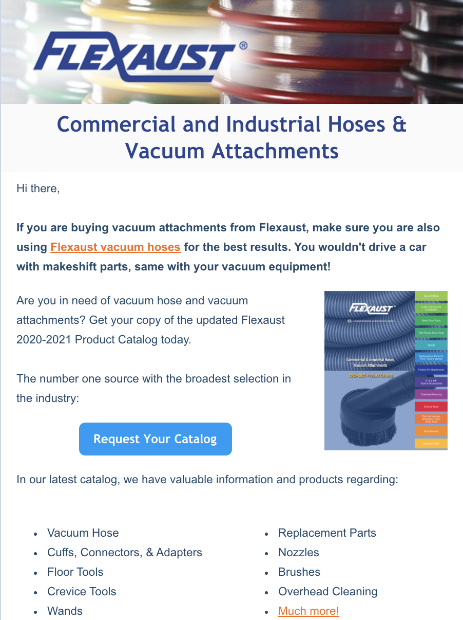 Industrial Hoses and Vacuum Attachments
