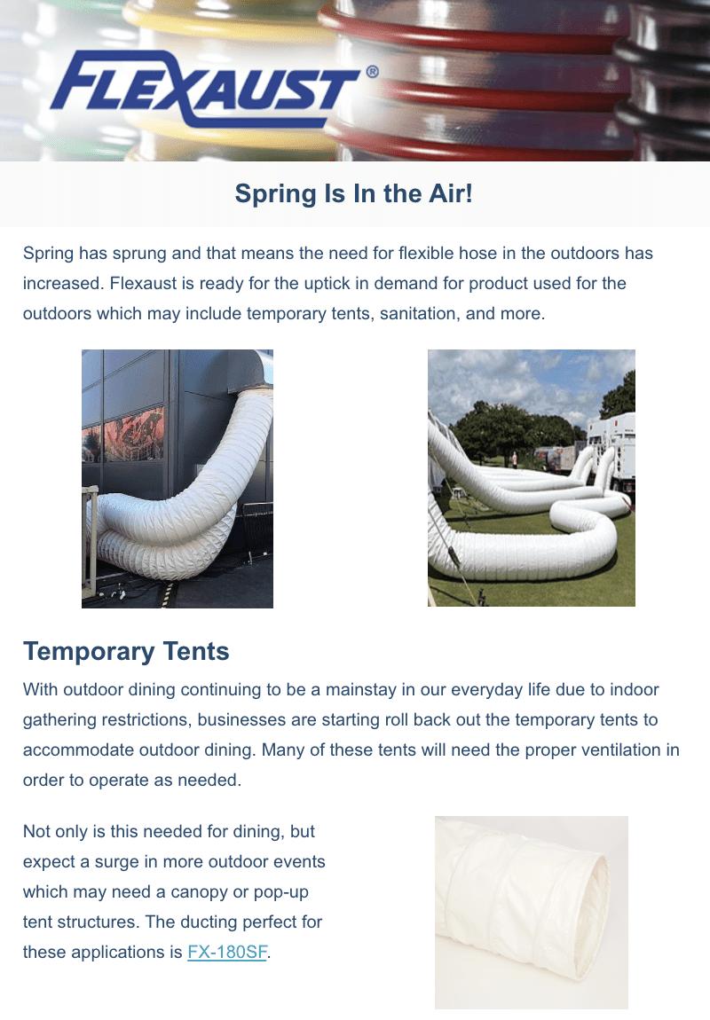 Flexaust April 2021 Newsletter